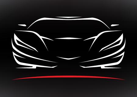 auto: Concetto Sportscar veicolo Silhouette 3