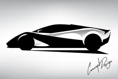 sportscar: Concept Sportscar Vehicle Silhouette 07