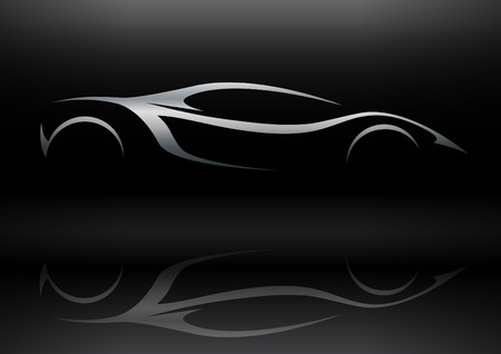 fast car: Concept Sportscar Vehicle Silhouette 01