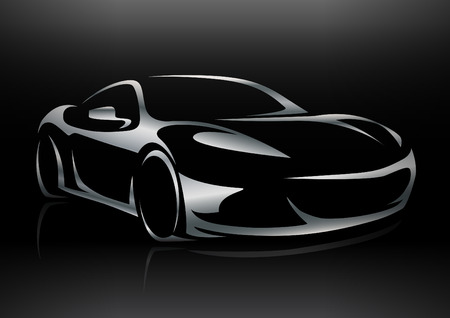 motor sports: Concept Sportscar Vehicle Silhouette 02