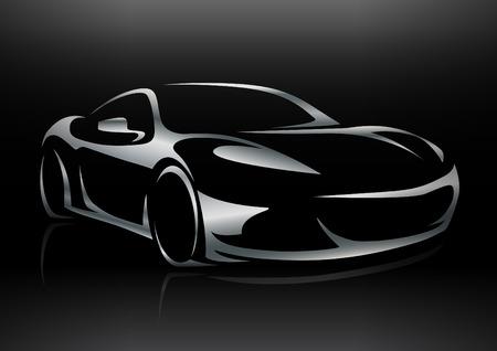 car showroom: Silueta Concepto Sportscar veh�culo 02