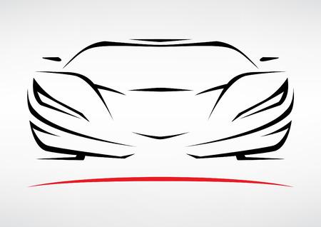 Silueta Concepto Sportscar del vehículo 3 Foto de archivo - 40679516