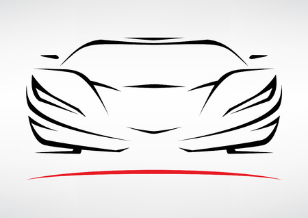 Concept Sportscar Vehicle Silhouette 3