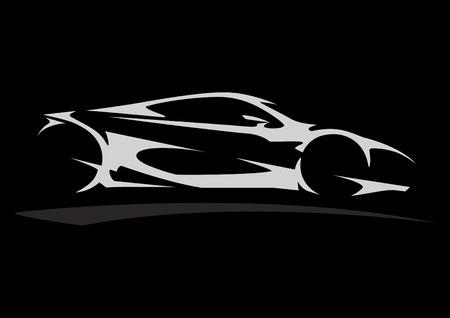 Konzept Sportscar Vehicle Silhouette 05 Standard-Bild - 40679517