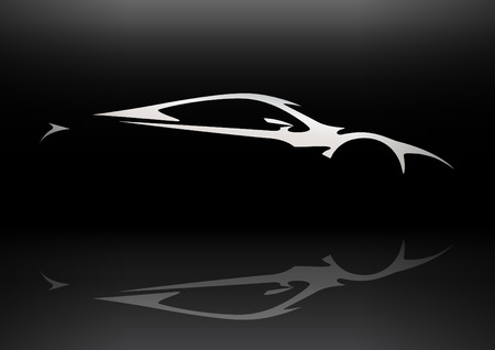 fast car: Concept Sportscar Vehicle Silhouette 06