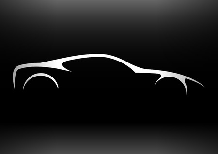 black outline: Supercar Silhouette 01
