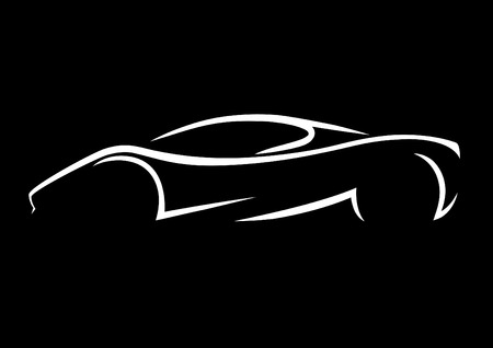Supercar Silhouette Illustration