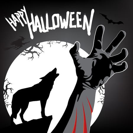 animal blood: Happy Halloween Invitation  Werewolf Attack