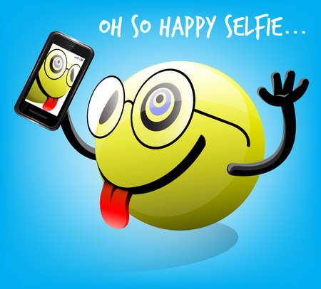 poser: Oh So Happy Selfie Emoticon