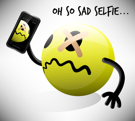 poser: Oh So Sad Selfie Emoticon