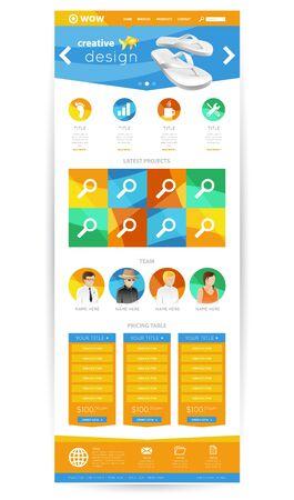 ui: Creative Flat UI Website Design
