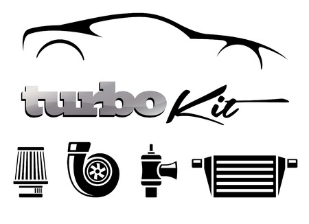 Vehicle Modification Turbo Kit Vectores