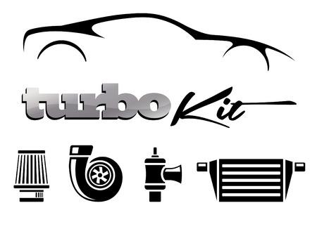 Voertuig Wijziging Turbo Kit Stock Illustratie
