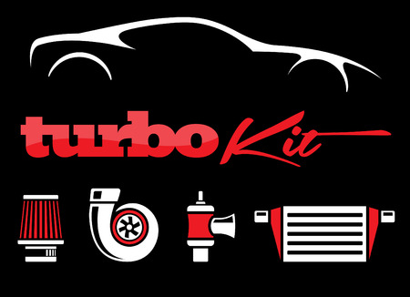 car tuning: Vehicle Modification Turbo Kit Illustration