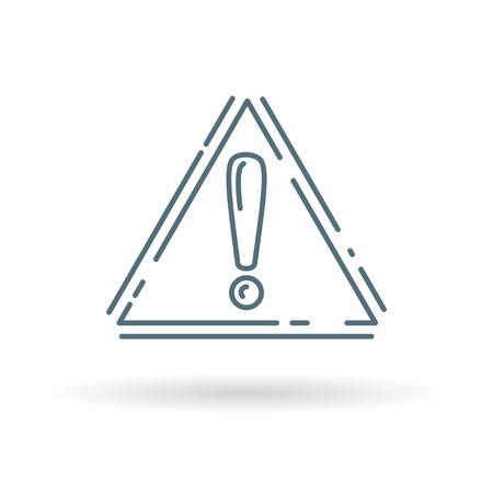 hazard symbol: Caution icon. Alert sign. Hazard symbol. Thin line icon on white background. Vector illustration.