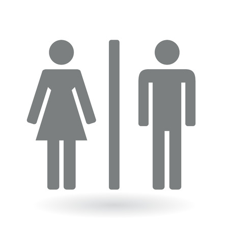 public restroom: Male and Female gender Symbol. Vector illustration.