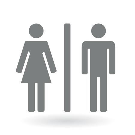 simbolo uomo donna: Maschio e femmina genere simboli. Illustrazione vettoriale.