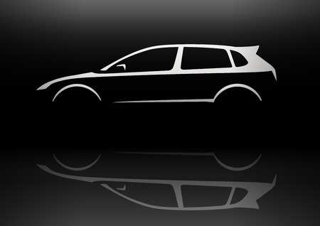 hatchback: Sports Vehicle Hot Hatchback Silhouette Concept Car Design. Vector illustration.