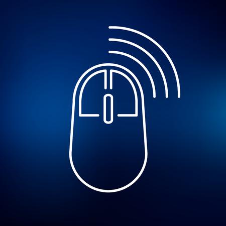 Wireless-Maus-Symbol. Wifi Maus Zeichen. Mausklick-Symbol. Weiß ...