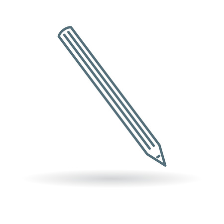 lapices: Pencil icon. Pencil sign. Pencil symbol. Thin line icon on white background. Vector illustration.