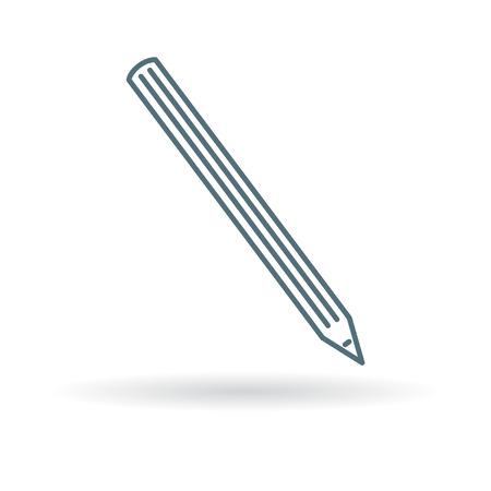 lapiz: Pencil icon. Pencil sign. Pencil symbol. Thin line icon on white background. Vector illustration.