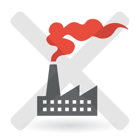 ozone layer: Industrial Air Pollution Concept. Vector illustration.