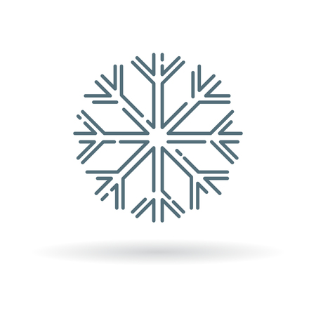 snow flake: Snow flake icon. Snow flake sign. Snow flake symbol. Thin line icon on white background. Vector illustration.