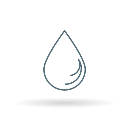 waterdrop: Waterdrop icon. Waterdrop sign. Waterdrop symbol. Thin line icon on white background. Vector illustration.