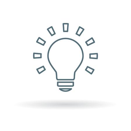 energysaving: Lightbulb icon. Lightbulb sign. Lightbulb symbol. Thin line icon on white background. Vector illustration. Illustration