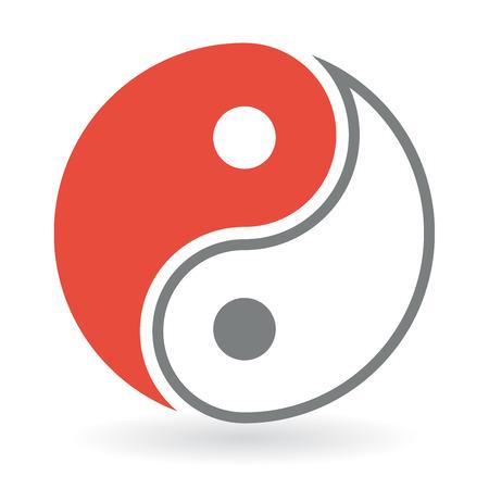 karma graphics: Yin Yang Symbol icon vector design