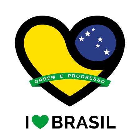 southamerica: Heart Brasil icon. Heart Brasil sign. Heart Brasil symbol. Love heart icon on white background. Vector illustration.