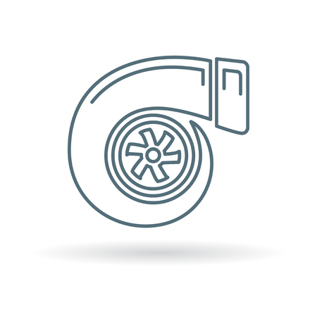 charger: Turbo icon. Turbo sign. Turbo symbol. Thin line icon on white background. Vector illustration.