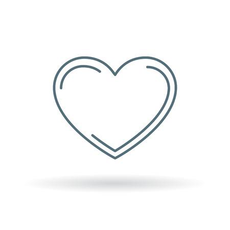 heart sign: Heart icon. Heart sign. Heart symbol. Thin line icon on white background. Vector illustration. Illustration