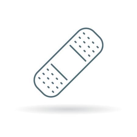 adhesive plaster: plaster icon.  Illustration