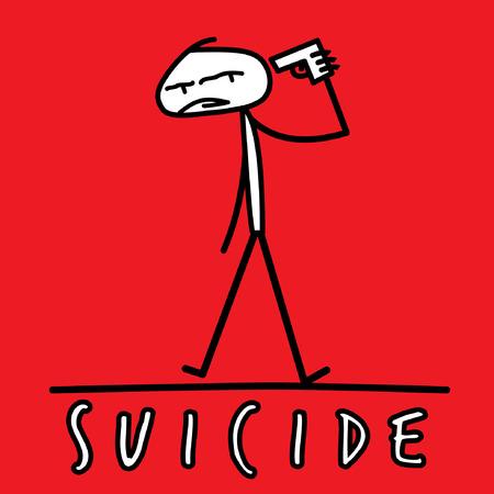 suicidal: Suicide by Pistol Illustration