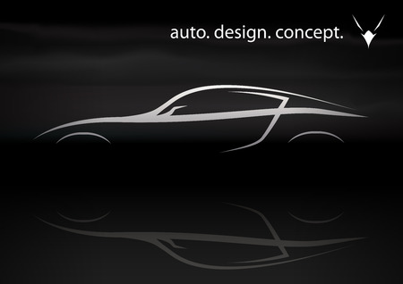 Konzeptionelle Vektor Auto Design von Supercar Silhouette Vektorgrafik