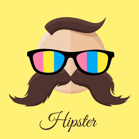 standout: Hipster man with Glasses and Mustache