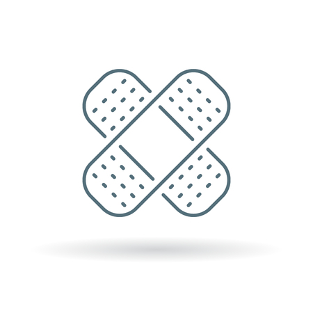 plaster: plaster icon.  Illustration