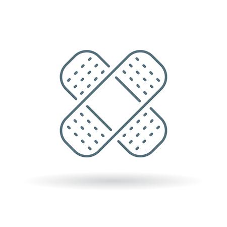plaster icon.  Illustration