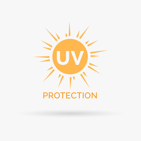 UV sun protection icon design. UV sun protection symbol design. UV SPF sun protection sign. Vector illustration.