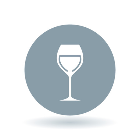 cabernet: Wine glass icon. Wine tasting sign. Alcohol symbol. White wine glass icon on cool grey circle background. Vector illustration. Illustration