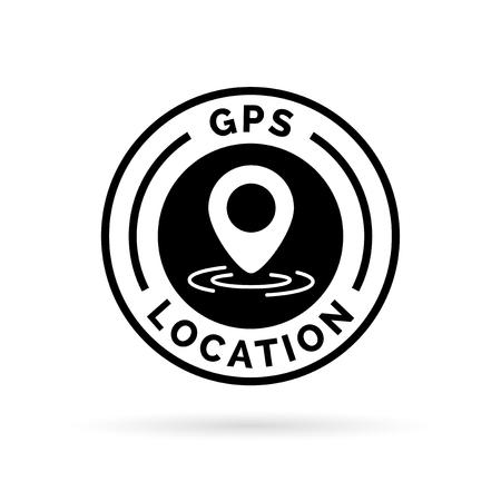 GPS location marker symbol icon. Vector illustration.