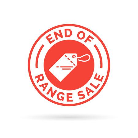 gamme de produit: Fin de la plage vente promotion insigne signe rouge icône de l'étiquette.