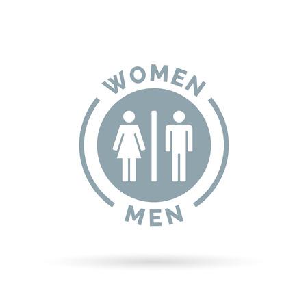 simbolo de la mujer: Los hombres y las mujeres icono aseo. Muestra del lavabo de hombres y mujeres. El hombre y la mujer símbolo de baño. Ilustración del vector.