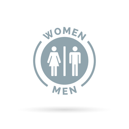 woman male: Men and women toilet icon. Male and female restroom sign. Man and woman bathroom symbol. Vector illustration. Illustration