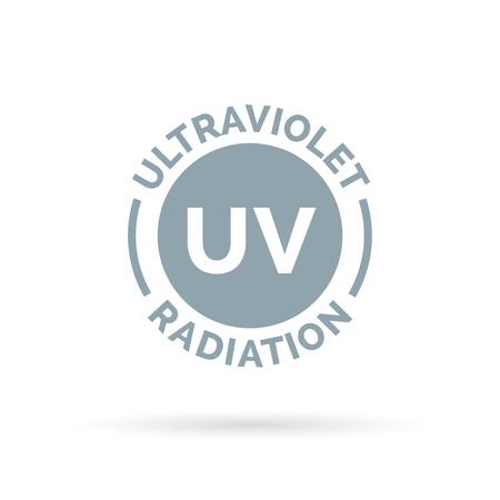 ultraviolet: UV rays icon design. Ultraviolet radiation symbol. UV SPF harmful skin cancer causing rays of light. Vector illustration. Illustration