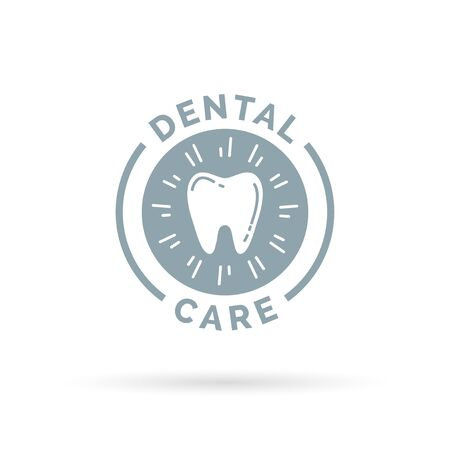 oral hygiene: Oral hygiene dental care sign with healthy teeth icon. Vector illustration. Illustration