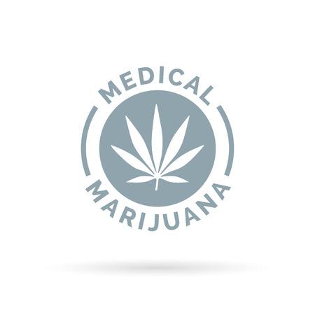 hemp: Medical Marijuana icon design with Cannabis hemp leaf symbol. Vector illustration.