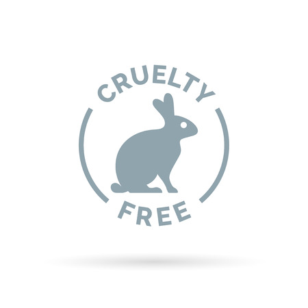 cruelty: Animal cruelty free icon design. Product not tested on animals sign with rabbit silhouette symbol. Vector illustration.