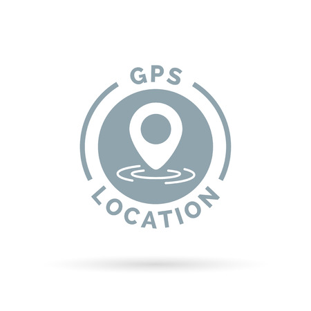 coordinates: GPS location marker icon pin coordinates symbol . Vector illustration.